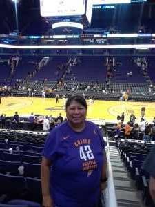 Alvina attended Phoenix Mercury vs. New York Liberty - WNBA on Aug 18th 2019 via VetTix