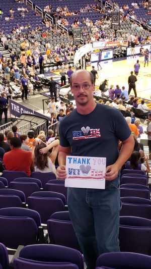 Russell attended Phoenix Mercury vs. New York Liberty - WNBA on Aug 18th 2019 via VetTix