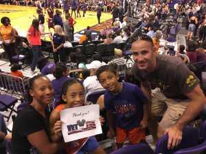 Alexia attended Phoenix Mercury vs. New York Liberty - WNBA on Aug 18th 2019 via VetTix