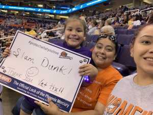 Rosa attended Phoenix Mercury vs. Minnesota Lynx - WNBA on Sep 6th 2019 via VetTix