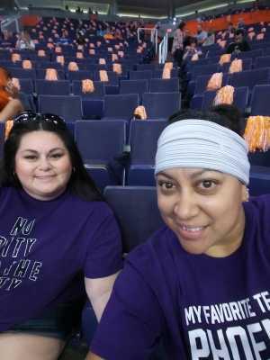 Christina attended Phoenix Mercury vs. Minnesota Lynx - WNBA on Sep 6th 2019 via VetTix