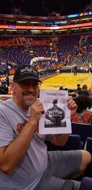 David attended Phoenix Mercury vs. Minnesota Lynx - WNBA on Sep 6th 2019 via VetTix