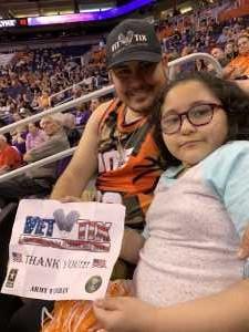 Jose attended Phoenix Mercury vs. Minnesota Lynx - WNBA on Sep 6th 2019 via VetTix