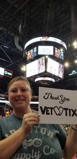 Regan attended Phoenix Mercury vs. Minnesota Lynx - WNBA on Sep 6th 2019 via VetTix