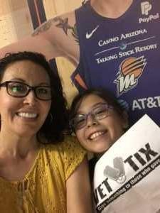 Steve attended Phoenix Mercury vs. Minnesota Lynx - WNBA on Sep 6th 2019 via VetTix