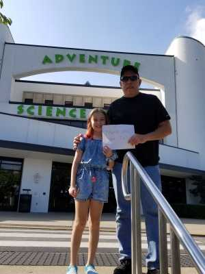 Charles attended Adventure Science Center Tickets on Aug 10th 2019 via VetTix