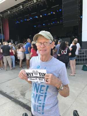 Tony attended Brett Eldredge - Country on Jul 27th 2019 via VetTix