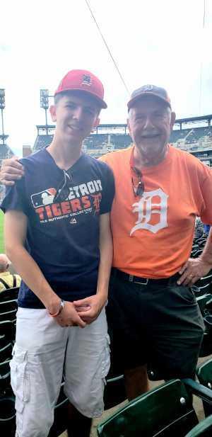 Al Basil, and Grandson Daniel attended Detroit Tigers vs. Chicago White Sox - MLB on Aug 7th 2019 via VetTix