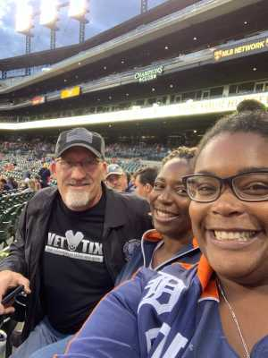 Jaresha attended Detroit Tigers vs. Cleveland Indians - MLB on Aug 28th 2019 via VetTix