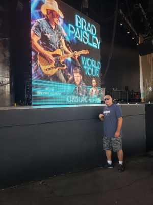Kenneth  attended Brad Paisley Tour 2019 - Country on Aug 3rd 2019 via VetTix
