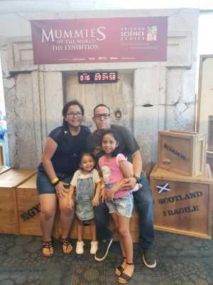 David attended Arizona Science Center on Aug 17th 2019 via VetTix