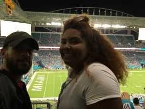 Emilio attended Miami Dolphins vs. Jacksonville Jaguars - NFL Preseason on Aug 22nd 2019 via VetTix
