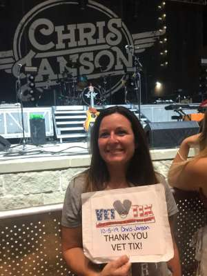 Barbara attended Miller Lite Hot Country Nights: Chris Janson on Oct 5th 2019 via VetTix