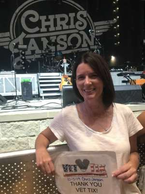 Christopher attended Miller Lite Hot Country Nights: Chris Janson on Oct 5th 2019 via VetTix