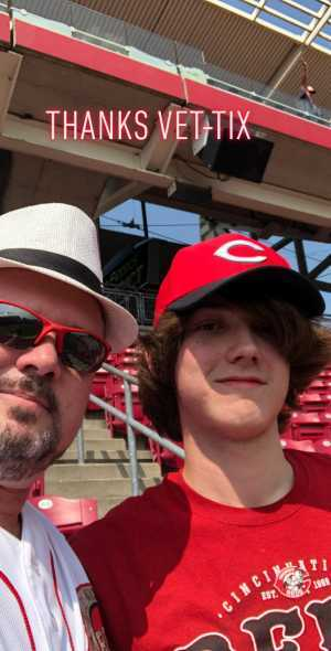 Gregory attended Cincinnati Reds vs. Pittsburgh Pirates - MLB on Jul 30th 2019 via VetTix