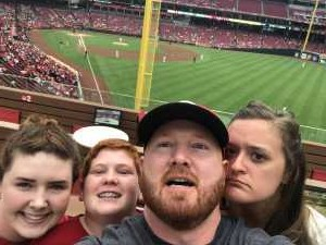 Patrick attended Cincinnati Reds vs. Pittsburgh Pirates - MLB on Jul 30th 2019 via VetTix
