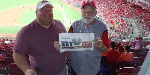 Michael attended Cincinnati Reds vs. Pittsburgh Pirates - MLB on Jul 30th 2019 via VetTix