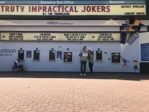 jesse attended Impractical Jokers on Aug 4th 2019 via VetTix