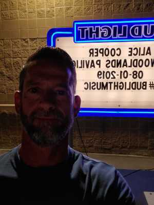 Richard attended Alice Cooper & Halestorm on Aug 1st 2019 via VetTix
