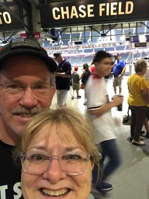 Edythe attended Arizona Diamondbacks vs. Colorado Rockies - MLB Brought to You by the Vfw on Aug 20th 2019 via VetTix