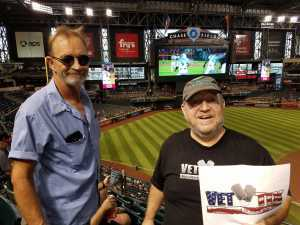 Steve attended Arizona Diamondbacks vs. Colorado Rockies - MLB Brought to You by the Vfw on Aug 20th 2019 via VetTix