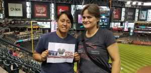 Yvonne attended Arizona Diamondbacks vs. Colorado Rockies - MLB Brought to You by the Vfw on Aug 20th 2019 via VetTix