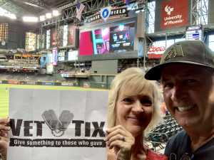 Jim attended Arizona Diamondbacks vs. Colorado Rockies - MLB Brought to You by the Vfw on Aug 20th 2019 via VetTix