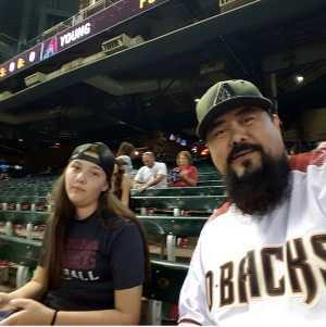RICARDO attended Arizona Diamondbacks vs. Colorado Rockies - MLB Brought to You by the Vfw on Aug 20th 2019 via VetTix