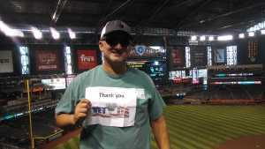 David attended Arizona Diamondbacks vs. Colorado Rockies - MLB Brought to You by the Vfw on Aug 20th 2019 via VetTix