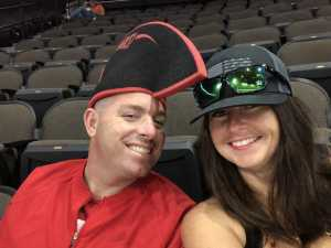 Ricky and Joslyn  attended Jacksonville Sharks  - 2019 NAL Playoffs! on Aug 6th 2019 via VetTix