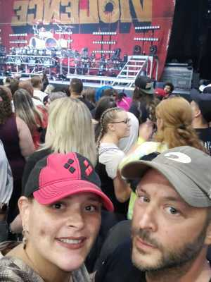 Frank attended Papa Roach with Asking Alexandria and Bad Wolves on Aug 13th 2019 via VetTix