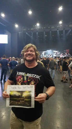 Michael attended Papa Roach with Asking Alexandria and Bad Wolves on Aug 13th 2019 via VetTix