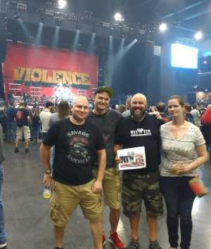Mark attended Papa Roach with Asking Alexandria and Bad Wolves on Aug 13th 2019 via VetTix