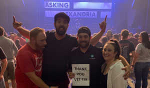 nicholas attended Papa Roach with Asking Alexandria and Bad Wolves on Aug 13th 2019 via VetTix