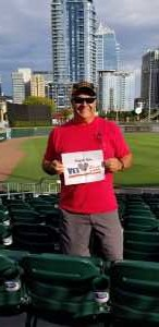 Jeffrey attended Charlotte Knights vs Scranton/WB Railriders - MiLB on Aug 14th 2019 via VetTix