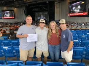 Blake attended Brad Paisley Tour 2019 - Country on Aug 24th 2019 via VetTix