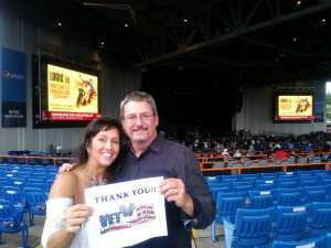 Darlene attended Brad Paisley Tour 2019 - Country on Aug 24th 2019 via VetTix