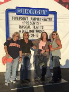 Dawn attended Rascal Flatts: Summer Playlist Tour on Aug 1st 2019 via VetTix