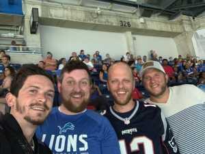 David attended Detroit Lions vs. New England Patriots - NFL Preseason on Aug 8th 2019 via VetTix