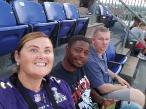 Meranda attended Baltimore Ravens vs. Jacksonville Jaguars - NFL on Aug 8th 2019 via VetTix