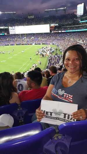 Susan attended Baltimore Ravens vs. Jacksonville Jaguars - NFL on Aug 8th 2019 via VetTix