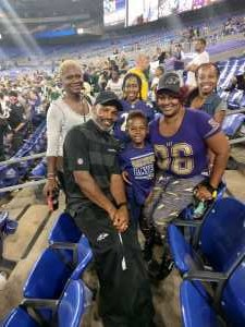 TOWANA attended Baltimore Ravens vs. Green Bay Packers - NFL on Aug 15th 2019 via VetTix