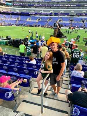 Evan attended Baltimore Ravens vs. Green Bay Packers - NFL on Aug 15th 2019 via VetTix