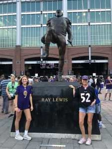 Veronica attended Baltimore Ravens vs. Green Bay Packers - NFL on Aug 15th 2019 via VetTix