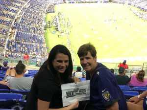 Kerry attended Baltimore Ravens vs. Green Bay Packers - NFL on Aug 15th 2019 via VetTix