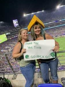 Aimee attended Baltimore Ravens vs. Green Bay Packers - NFL on Aug 15th 2019 via VetTix