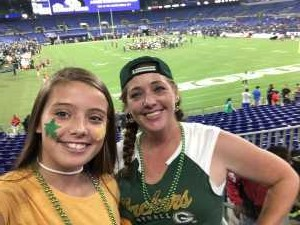Amy attended Baltimore Ravens vs. Green Bay Packers - NFL on Aug 15th 2019 via VetTix