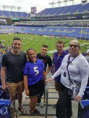 Cindy attended Baltimore Ravens vs. Green Bay Packers - NFL on Aug 15th 2019 via VetTix