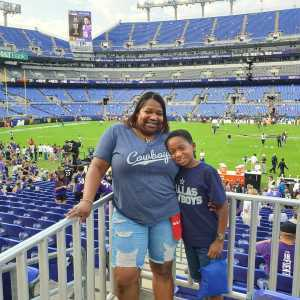 Tammie attended Baltimore Ravens vs. Green Bay Packers - NFL on Aug 15th 2019 via VetTix