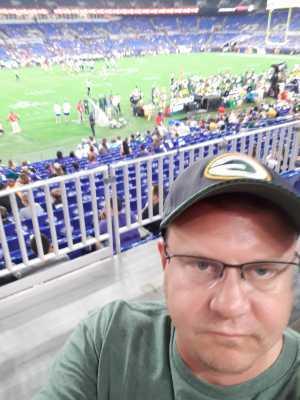 Benjamin attended Baltimore Ravens vs. Green Bay Packers - NFL on Aug 15th 2019 via VetTix